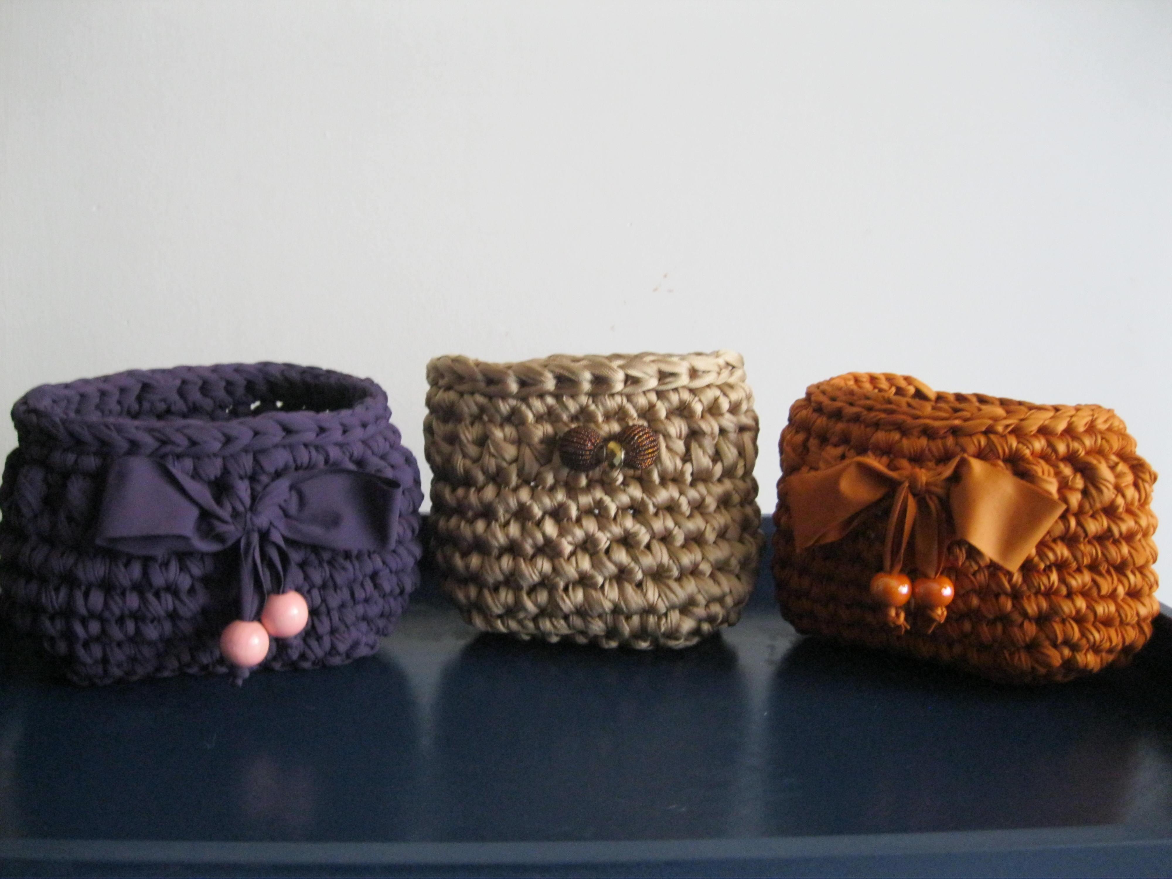 Cestini Da Bagno Con Fettuccia Tappeti In Fettuccia Tappeto Crochet